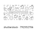 smoothies vector concept... | Shutterstock .eps vector #792552706
