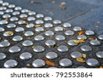 metal tactile paving tiles for... | Shutterstock . vector #792553864