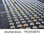 metal tactile paving tiles for... | Shutterstock . vector #792553870