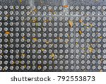 metal tactile paving tiles for... | Shutterstock . vector #792553873