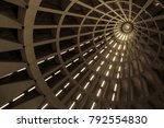 detail of the ceiling of a... | Shutterstock . vector #792554830