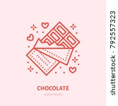 chocolate bar illustration.... | Shutterstock .eps vector #792557323