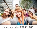 group of friends bonding and... | Shutterstock . vector #792561280