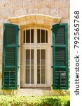 vintage window with green...   Shutterstock . vector #792565768