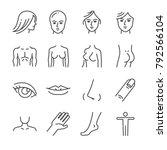 beauty salon body parts line... | Shutterstock .eps vector #792566104