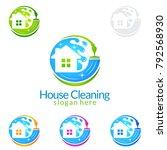 house cleaning vector logo... | Shutterstock .eps vector #792568930