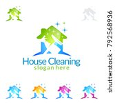 house cleaning vector logo... | Shutterstock .eps vector #792568936