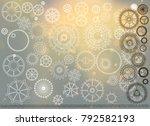 steampunk vintage background... | Shutterstock . vector #792582193