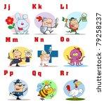 joyful cartoon alphabet... | Shutterstock . vector #79258237