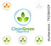 cleaning service vector logo... | Shutterstock .eps vector #792584329
