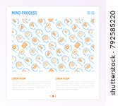 mind process concept with thin...   Shutterstock .eps vector #792585220