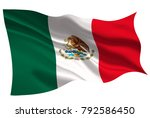mexico national flag flag icon | Shutterstock .eps vector #792586450