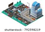 futuristic cityscape isometric... | Shutterstock . vector #792598219