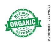 organic natural badge stamp | Shutterstock .eps vector #792598738