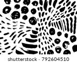 ink painting. abstract pattern. ... | Shutterstock .eps vector #792604510