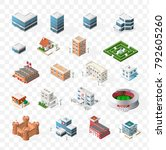 isometric high quality city... | Shutterstock .eps vector #792605260