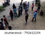 blur activity camp employee... | Shutterstock . vector #792612154