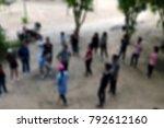 blur activity camp employee... | Shutterstock . vector #792612160