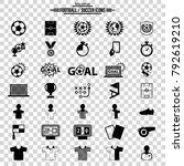 soccer icons set | Shutterstock .eps vector #792619210