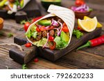 mexican tacos with beef in... | Shutterstock . vector #792620233