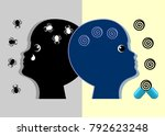 anxiety medications for...   Shutterstock . vector #792623248