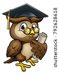 a wise owl cartoon character... | Shutterstock .eps vector #792628618