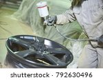 automobile disc restoring.... | Shutterstock . vector #792630496