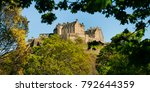 medival edinburgh castle in... | Shutterstock . vector #792644359