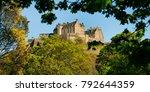 medival edinburgh castle in... | Shutterstock . vector #792644359