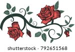 Stock vector decorative element with roses 792651568