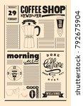 coffee shop typographical... | Shutterstock .eps vector #792675904