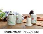 small fresh ceramic hand... | Shutterstock . vector #792678430