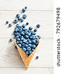 blueberry explosion. photo of... | Shutterstock . vector #792679498