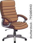 vector illustration of a brown... | Shutterstock .eps vector #792680443