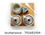 japanese hand painted ceramic...   Shutterstock . vector #792681904