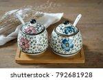 japanese hand painted ceramic...   Shutterstock . vector #792681928