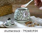 japanese hand painted ceramic...   Shutterstock . vector #792681934