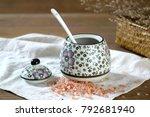 japanese hand painted ceramic...   Shutterstock . vector #792681940