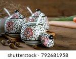 japanese hand painted ceramic...   Shutterstock . vector #792681958