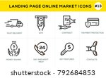 flat line design concept icons... | Shutterstock .eps vector #792684853