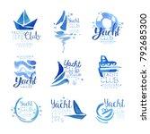 yacht club since 1969 logo... | Shutterstock .eps vector #792685300
