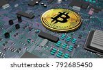 bitcoin  crypto currency ... | Shutterstock . vector #792685450
