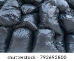 plastic black trash bags | Shutterstock . vector #792692800