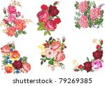 illustration with rose... | Shutterstock .eps vector #79269385