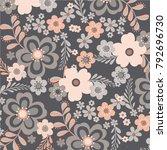 floral pattern in vector   Shutterstock .eps vector #792696730