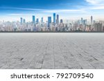 road ground and chongqing urban ... | Shutterstock . vector #792709540