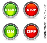 start and stop  on and off... | Shutterstock .eps vector #792712219