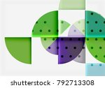 geometric circle abstract... | Shutterstock .eps vector #792713308