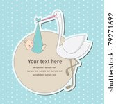 Baby Boy Announcement Card....