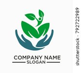 health logo and vector template ... | Shutterstock .eps vector #792722989